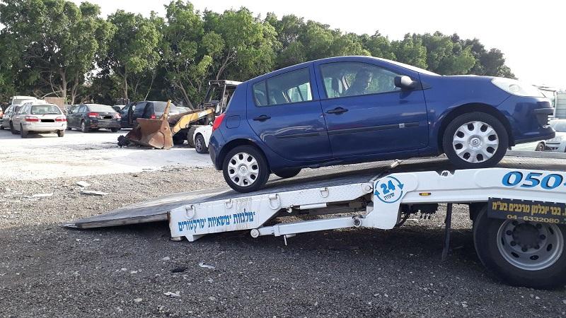 הורדת רכב לפירוק באזור מורשה